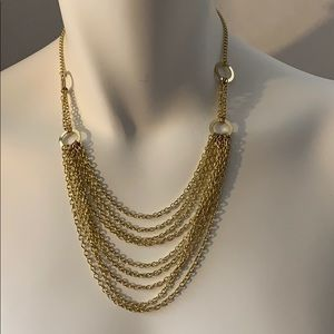 "CUTE 15.5"" GOLD TONE NECKLACE WITH A 3.5"" EXTENDER"